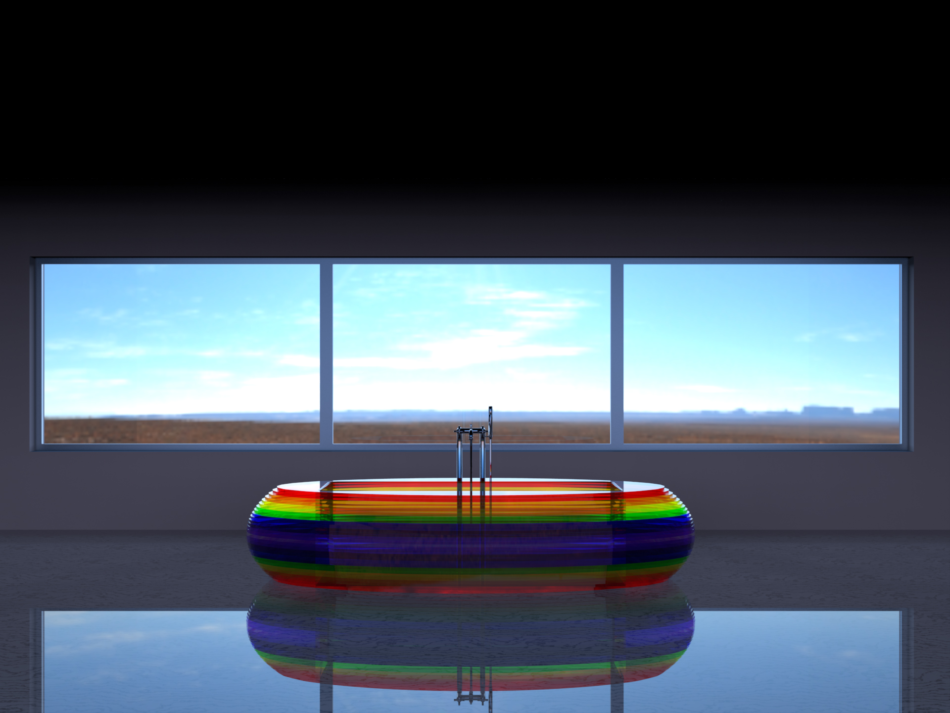 Rainbow bath DESIGN: A.C. RENDER: IdeaProgetto